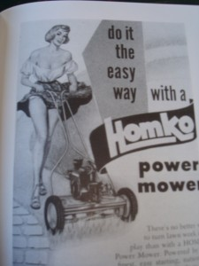 "After World War II marketing companies successfully glamourized lawns and lawn care equipment, convincing"" home owners that great lawns can only be achieved through the use of chemical fertilizers and expensive lawn care products."